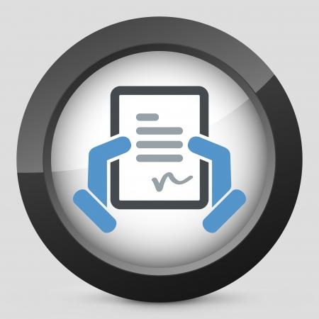 Document signature icon Stock Vector - 20084273
