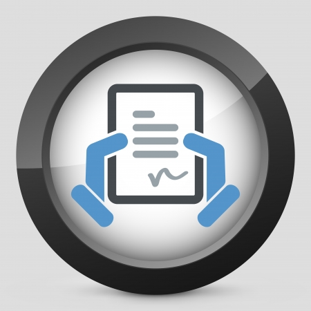 accordance: Document signature icon