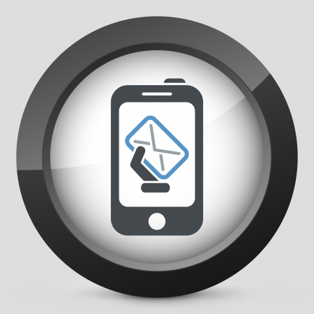 Smartphone mail icon Stock Vector - 20084259