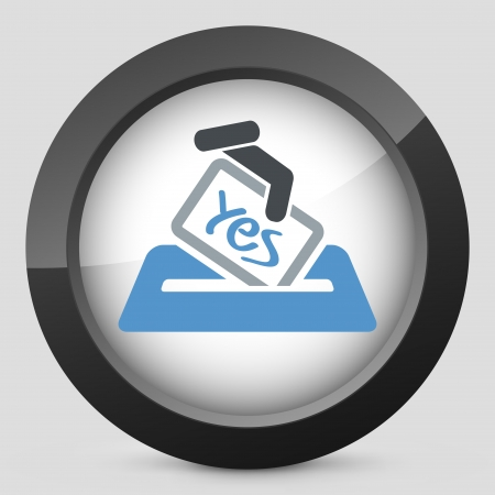 Vote concept icon Stock Vector - 20084291
