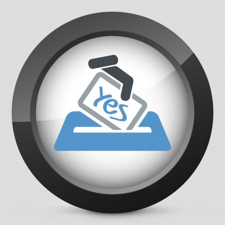 Vote concept icon Stock Vector - 20084291