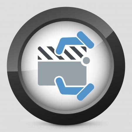 Clapboard concept icon Stock Vector - 20084277
