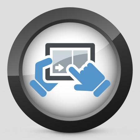 Touchscreen sliding icon Stock Vector - 20084287