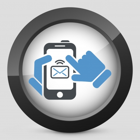 Message on smartphone icon Stock Vector - 20084292