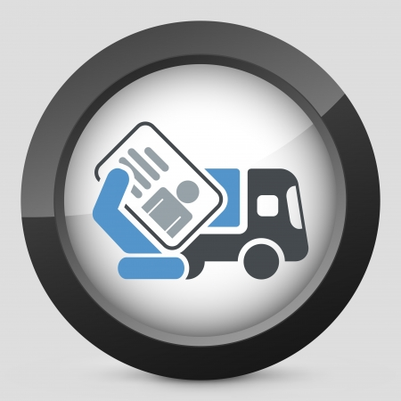 licence: Truck document icon