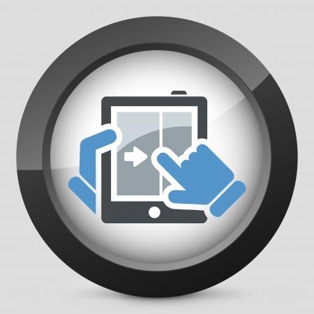 Touchscreen sliding icon Stock Vector - 20084298