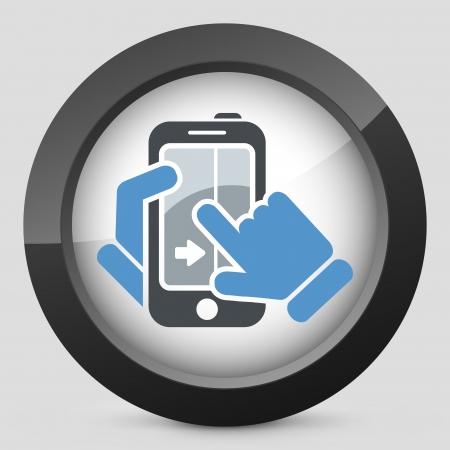 Touchscreen sliding icon Stock Vector - 20084302