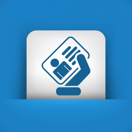 hand holding id card: Identity card icon