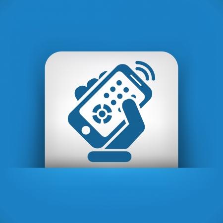 Smartphone remote control Stock Vector - 20084392