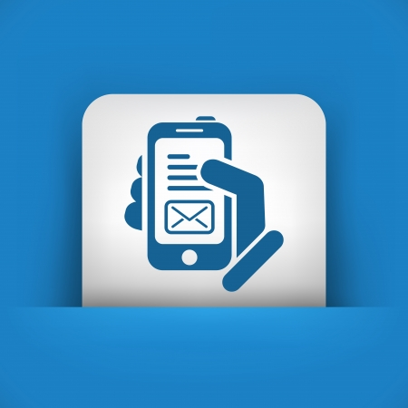 Message on smartphone icon Vector