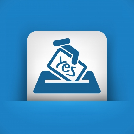 Vote concept icon Stock Vector - 20084396