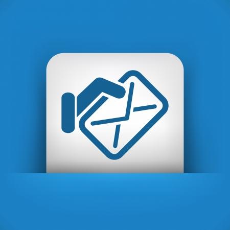 sender: Mail icon concept