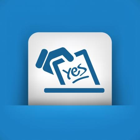 voting ballot: Vote concept icon