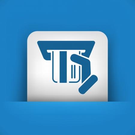 Credit card icon Illustration