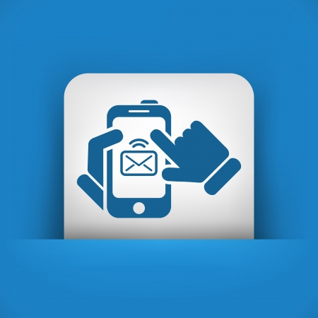 Message on smartphone icon Stock Vector - 20084398