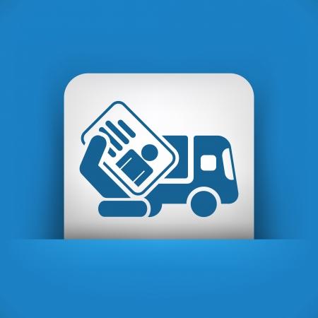 Icono de documento de camiones Ilustración de vector