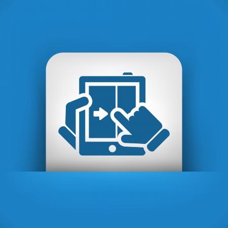 Touchscreen sliding icon Stock Vector - 20084400