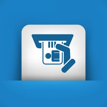 Identity card insert icon Stock Vector - 20084368