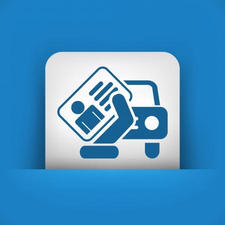 Icono de documento de coches Ilustración de vector