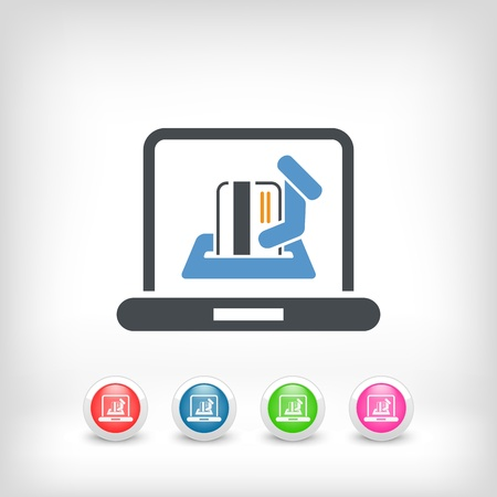 Online shopping icon Stock Vector - 20144675