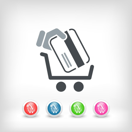 bank cart: Buy store icon