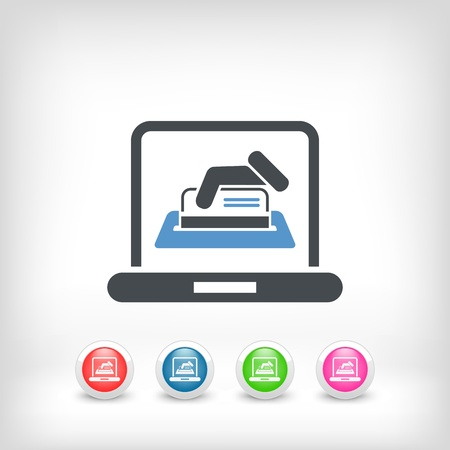 kunden: Online Kreditkarte Illustration