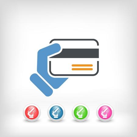 Credit card holding Illustration