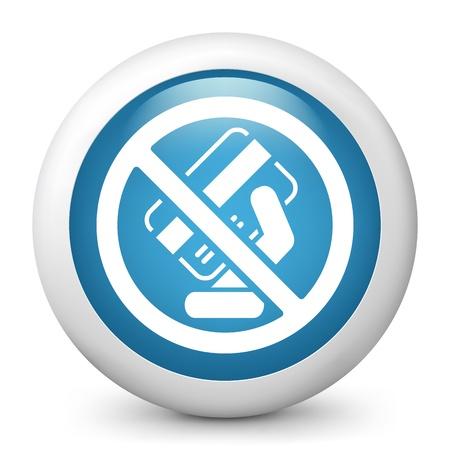 Forbidden credit card Stock Vector - 20144659
