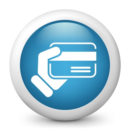 Credit card holding Vector