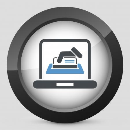 Online credit card Vector