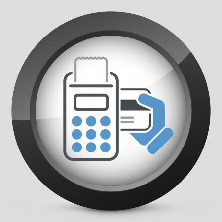 gastos: Ícone do cartão de crédito Ilustração
