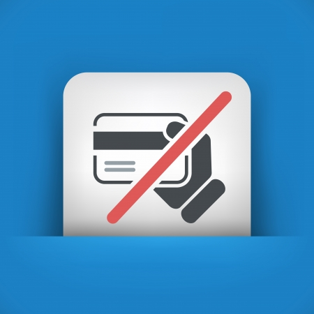 Credit card service not available Stock Vector - 20144697