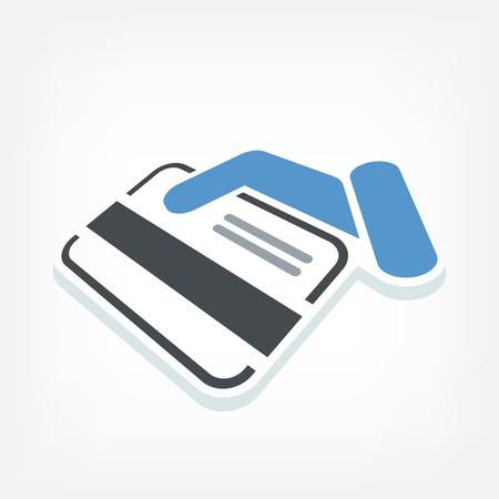 Creditcard label Stock Illustratie