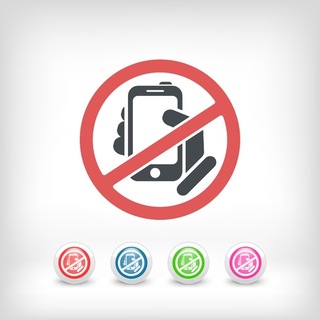 Forbidden phone icon 向量圖像