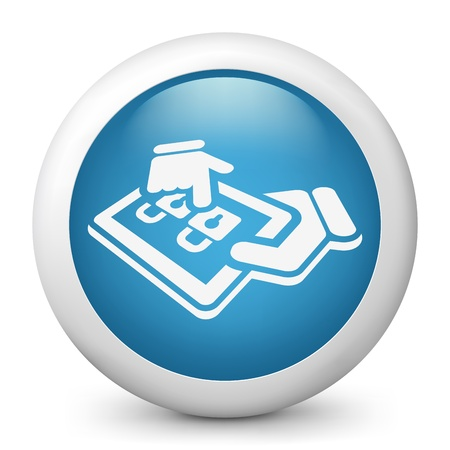 Tablet access label icon Stock Vector - 20144740