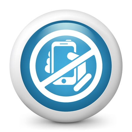 no cell phone sign: Forbidden phone icon Illustration