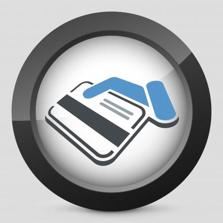 Credit card label Vector