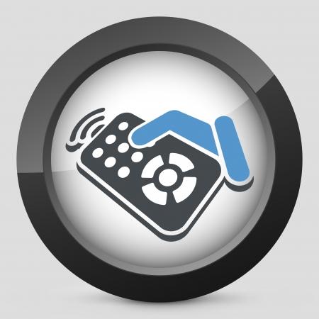 Remote control label icon Stock Vector - 20144764