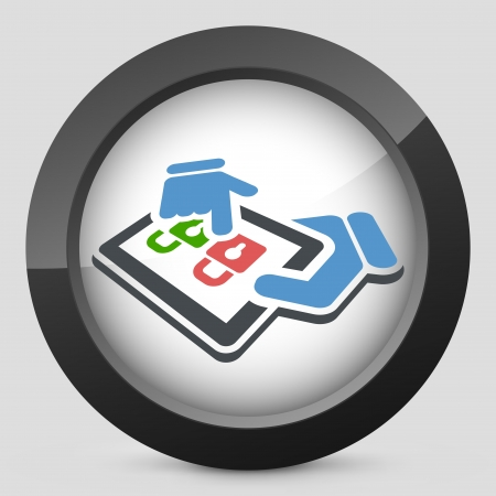 Tablet access label icon Stock Vector - 20144760