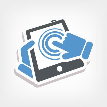 Touchscreen action icon Stock Vector - 20236400