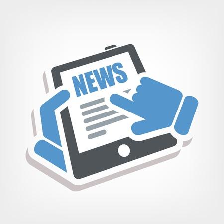 Web news icon Stock Vector - 20236387