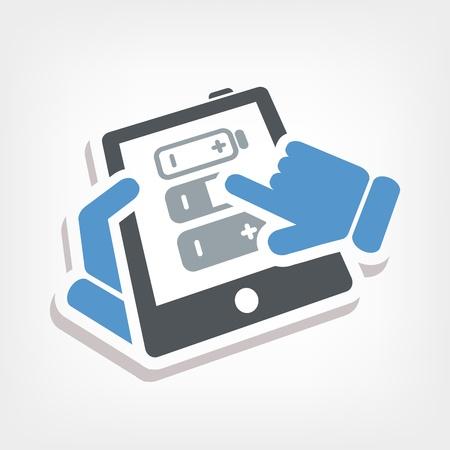 Battery level touchscreen Stock Vector - 20236386