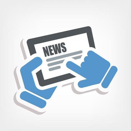 News touchscreen Stock Vector - 20236391