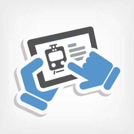 Train web booking Stock Vector - 20236378