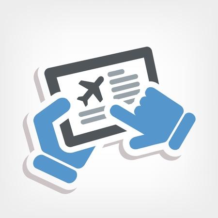 Airline website Stock Vector - 20236384