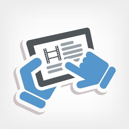 Video touchscreen Stock Vector - 20236388
