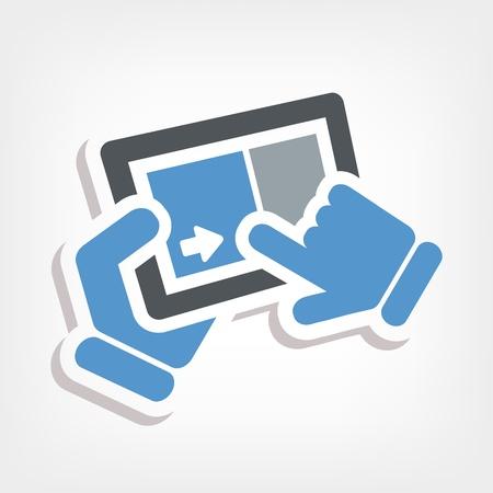 Slide touchscreen Stock Vector - 20236382
