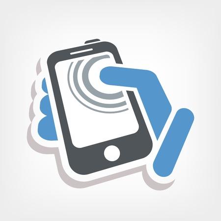Touchscreen action icon Stock Vector - 20236460