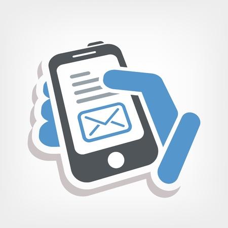 Smartphone e-mail icon Stock Vector - 20236461