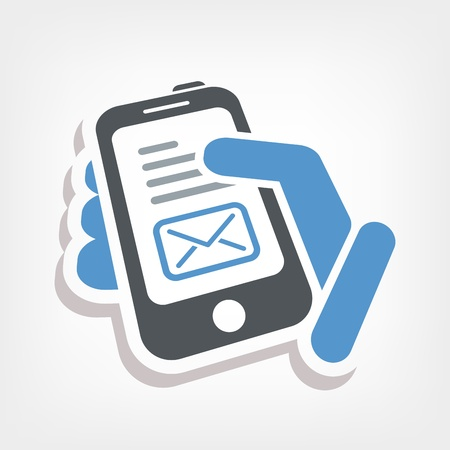 Smartphone e-mail icon